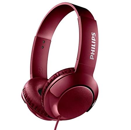 Billede af Philips BASS+ SHL3075RD Høretelefoner