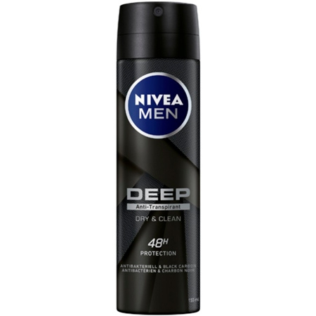 Nivea Men Deep Dry & Clean Deodorant - 150ml