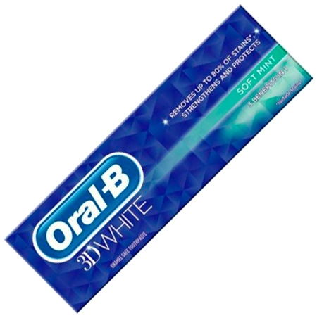 Oral-B 3D White Soft Mint Tandpasta - 75ml