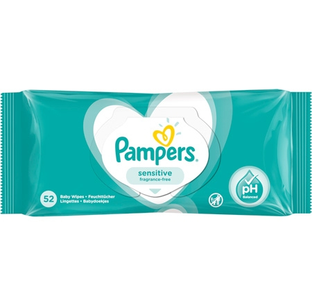 Pampers Sensitive Vådservietter - 52 stk