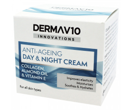 Derma V10 Anti-Ageing Collagen Dagcreme - 50ml