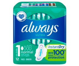 Always Ultra Normal Instant Dry - 12 stk