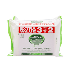 Athena Beauté Gentle Facial Cleansing Wipes - 3 stk