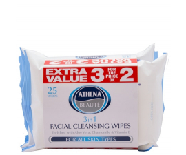 Athena Beauté 3-i-1 Facial Cleansing Wipes - 3 stk