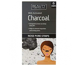 Beauty Formulas Charcoal Nose Pore Strips - 6 stk.