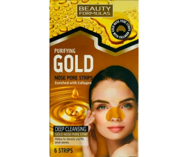 Beauty Formulas Gold Nose Strips - 6 stk