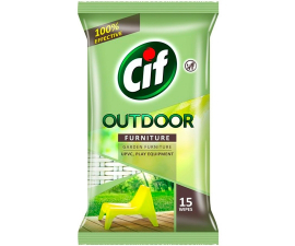 Cif Outdoor Furniture Wipes - 15 Stk