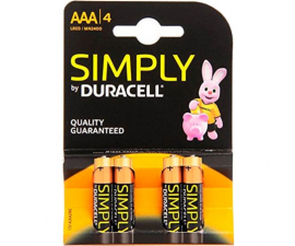 Duracell Simply AAA Batterier - 4 stk