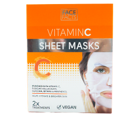 Face Facts Vitamin C Sheet Maske - 2 stk