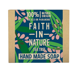 Faith In Nature Vegansk Håndsæbe Tea Tree - 100 g