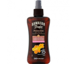 Hawaiian Tropic Protective Dry Spray SPF15 - 200ml