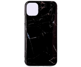 BasicPlus iPhone 11 Pro Cover - Sort Marmor