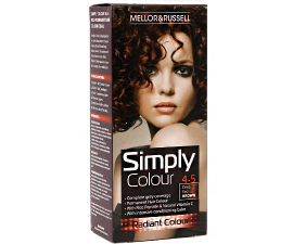 Mellor & Russell Simply Colour Hårfarve - 4.5 Deep Red Brown
