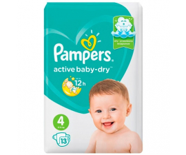 Pampers Active Baby Dry Bleer Str. 4 (9-14kg) - 13 Stk