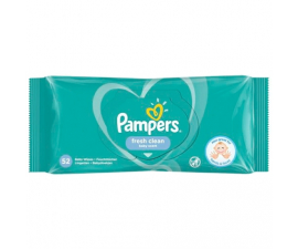 Pampers Fresh Clean Vådservietter - 52 stk
