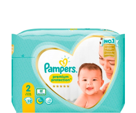 Pampers Premium Protection Str. 2 (4-8 kg) - 32 stk