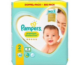 Pampers Premium Protection Str. 2 (4-8 kg) - 80 stk