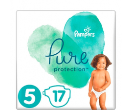 Pampers Pure Protection Bleer str 5 (11+kg) - 17 stk