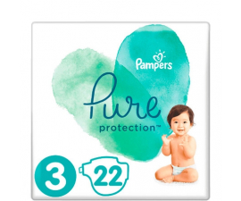 Pampers Pure Protection Bleer str 3 (6-10kg) - 22 stk
