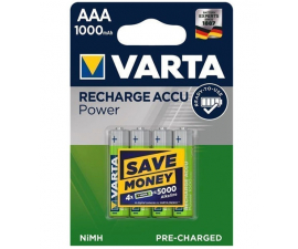 Varta Recharge Power AAA 1000 mAh Batterier - 4 stk