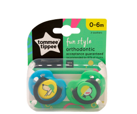 Tommee Tippee Fun Style 0-6 mdr Sut - 2 stk
