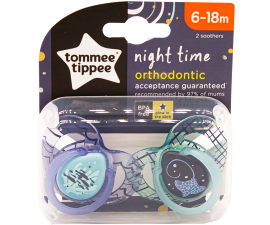 Tommee Tippee Night Time Sut 6-18 mdr - 2 stk