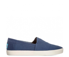 Toms Avalon Canvas Slip-ons - Navy