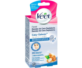 Veet Sensitive Easy-Gel Face Strips - 20 Stk