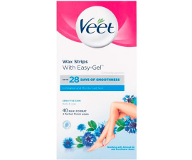 Veet Sensitive Easy-Gelwax Voks Strips - 40 stk