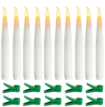 LED Batteridrevet Juletræslys – 10 stk